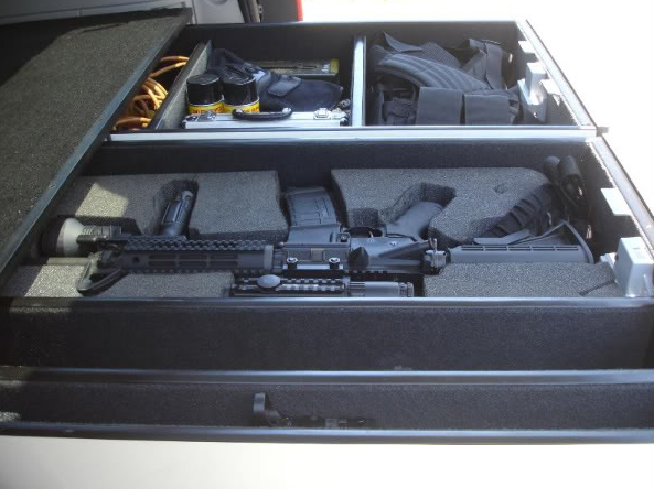 Hidden Gun Drawer Safe for SUV