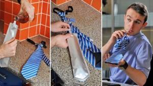 Hidden Fluid Compartment in Neck Tie