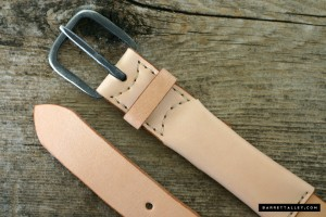 Leather Belt with Hidden Compartment