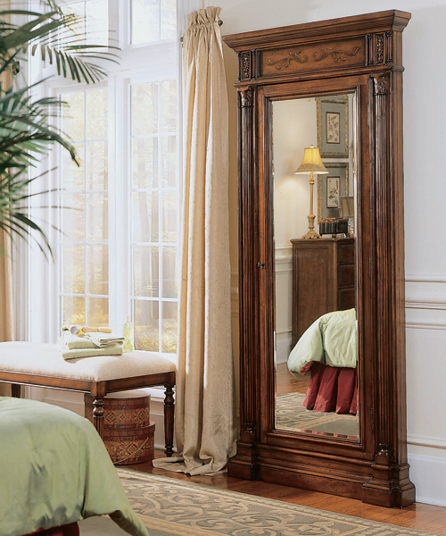 Amazing Mirror Door To Hidden Storage