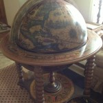 Vintage Globe Lifts Up to Reveal Bar Storage