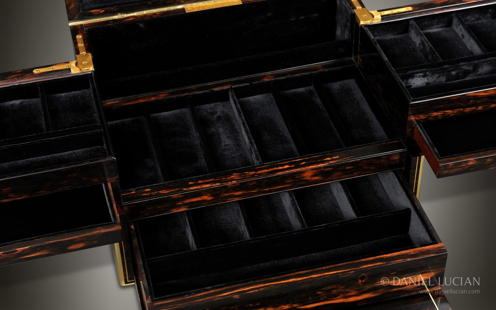 Antique Jewelry Box with Secret Compartments