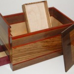 Hidden Compartment Solid Wood Jewelry Box