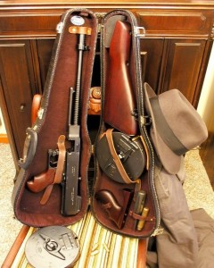 Tommy Gun Hidden in Violin Case