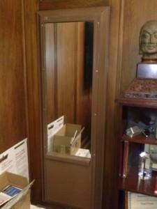 Secret Compartment Behind Sliding Mirror