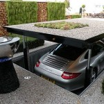 Secret Garage Hidden Under Driveway