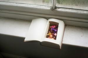Homemade Hollow Book Storage
