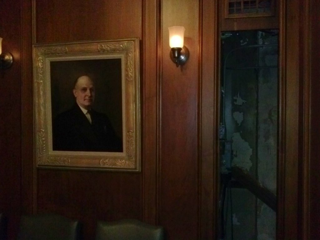 Secret Door Panel in Prohibition Era Office