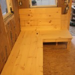 Built-In Wooden Bench with Hidden Storage