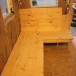 Built-In Wooden Bench with Hidden Storage