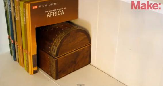 Hidden Box Behind Books