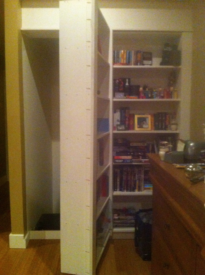 Secret Room Found Behind Bookcase Door