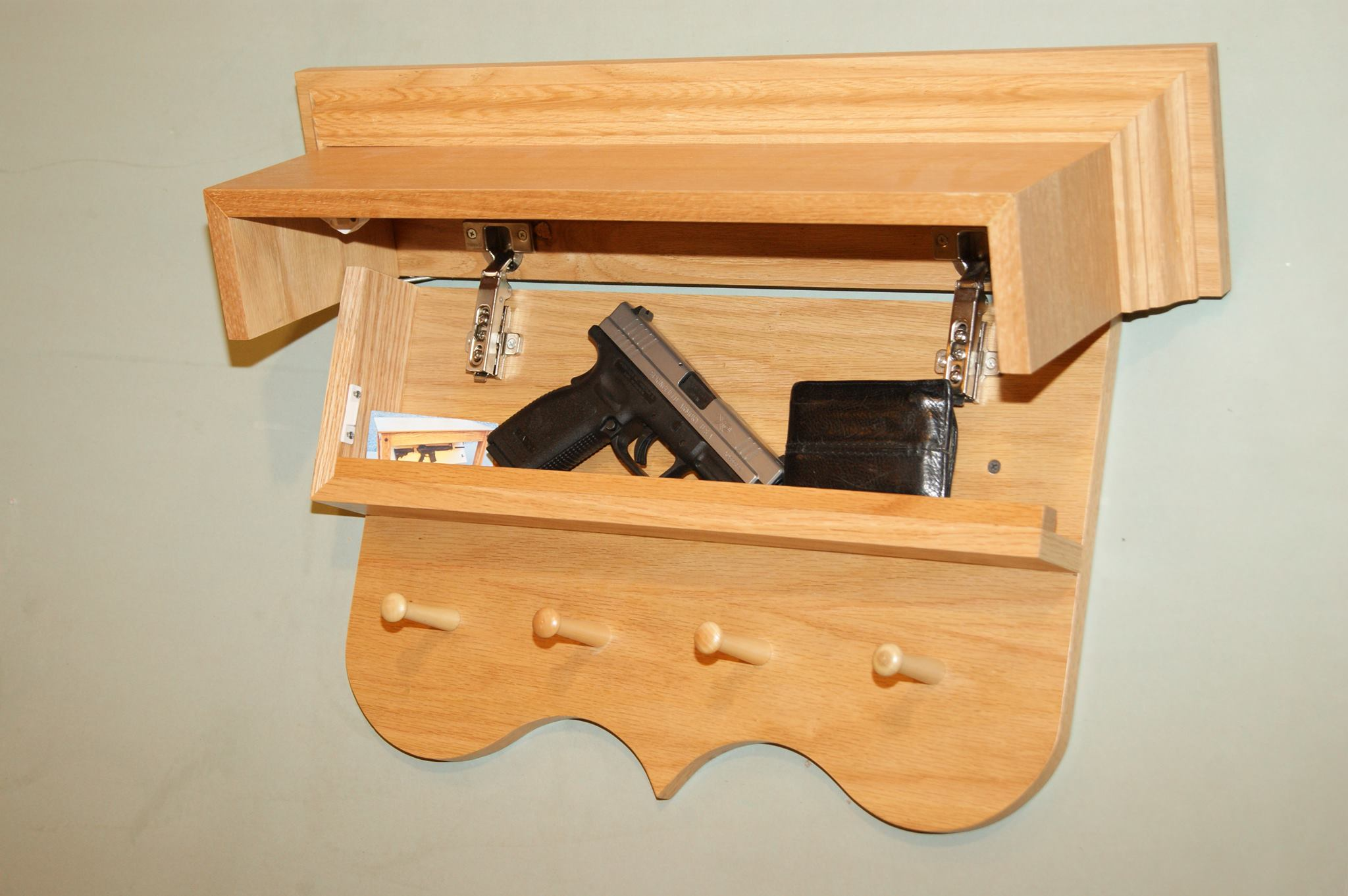 Secret compartment in coat rack stashvault for Furniture w hidden compartments