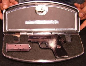 Secret Compartment in Motorcycle Floorboard Conceals Handgun