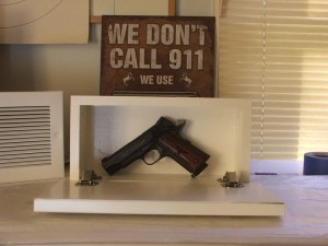 Secret Firearm Compartment Behind Wall Vent
