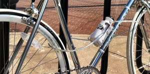 Bottle Lock for Bicycle with Hidden Key Compartment