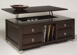 Secret storage compartment in table