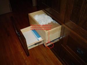 Hidden Drawer in Armoire