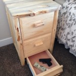 Secret Drawer Compartment in Furniture - Cash and Gun Storage