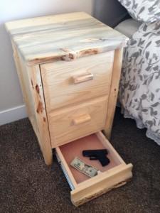 Secret Drawer Compartment in Furniture - Cash and Gun Storage