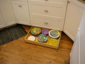 Toe Kick Conceals Secret Storage Compartment Drawer