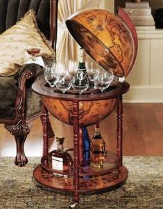 Globe with Hidden Bar Inside