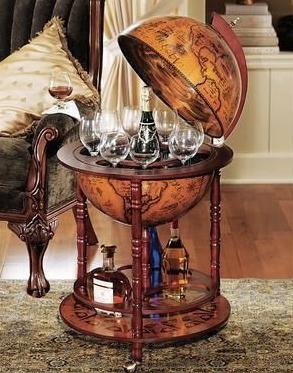 Hidden Bar in Replica Globe