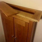 Wooden Cabinet with Hidden Stash Compartment