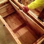Hidden Compartment in Wooden Trunk