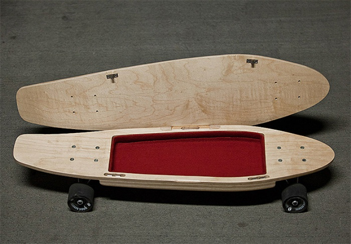 Skateboard with Secret Compartment
