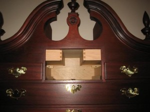 Concealed Drawers in Highboy Armoire