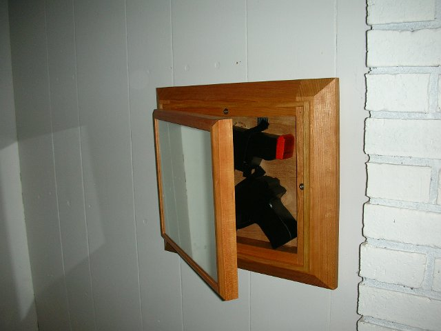 Mirror with Secret Gun Compartment