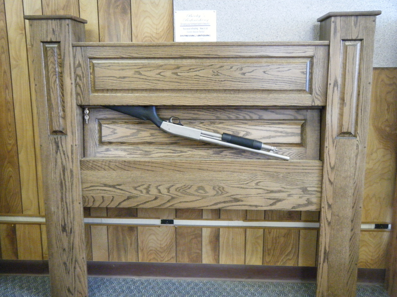 GunBed Secret Compartment Headboard