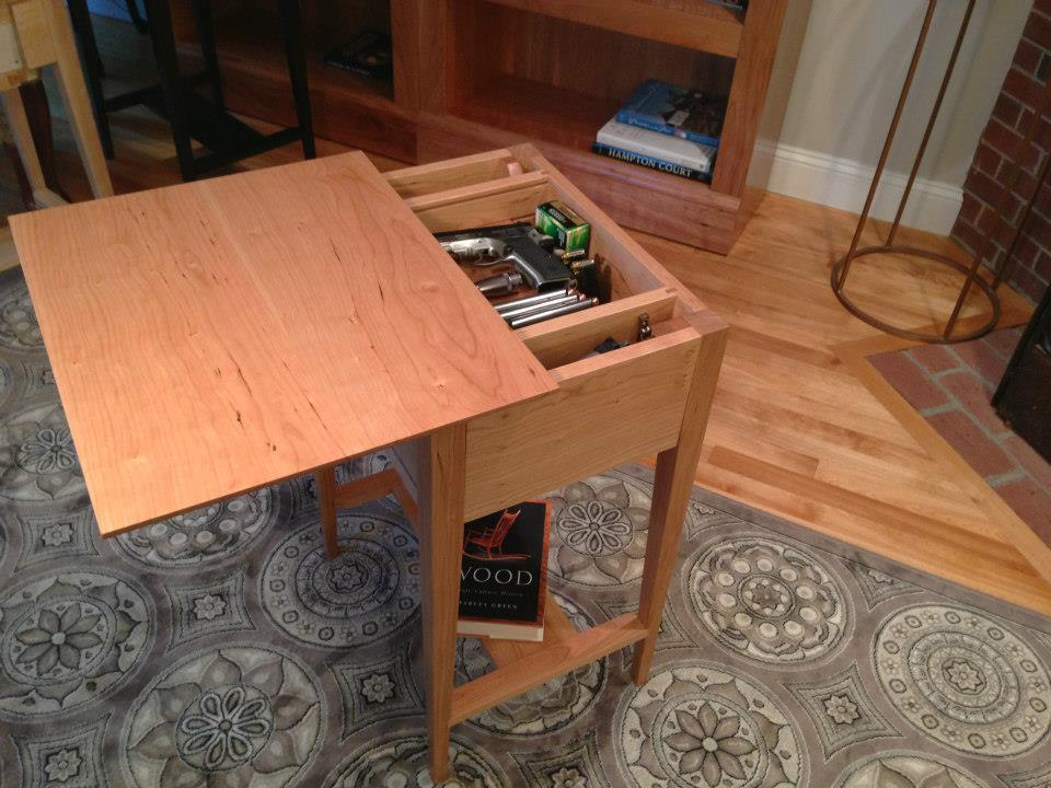 Gun Concealment End Table