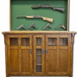 Secret Gun Display Rack in Furniture