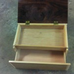 Wooden Humidor with Secret Compartment