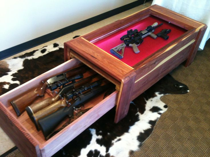 Long Gun Concealment Coffee Table Stashvault