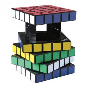 Hidden Storage Compartment Inside Rubik's Cube