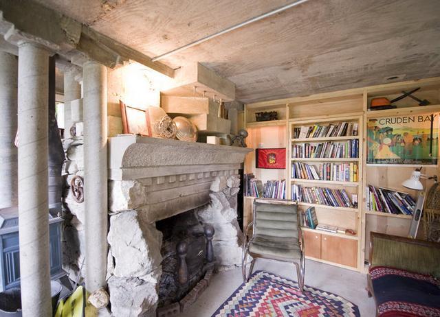 Secret Pine Bookcase Door