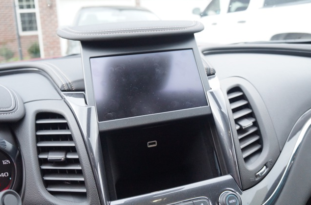 Secret Compartment Behind Touchscreen in Car