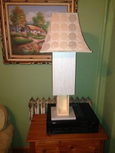 Lamp Lifts Up to Reveal Secret Storage