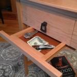 Hidden Drawer for Valuables Under Table