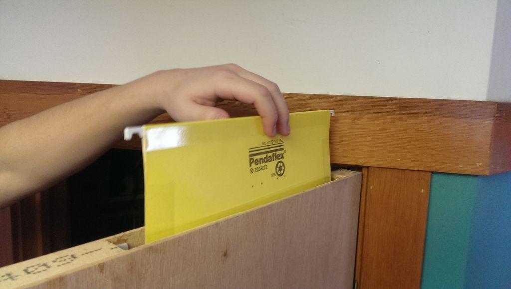 Hidden File Folder Inside Door