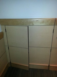 Hidden Storage Built Into Wall