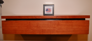 Hidden Drawer Storage in Shelf