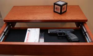 Hidden Storage Drawer in Shelf