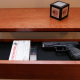 Hidden Storage Drawer in Shelf