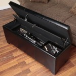 Secret Firearm Compartmen Safe in Bench
