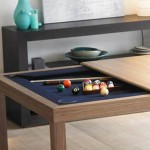 Billiards Table Hidden in Kitchen Table