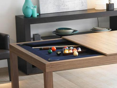 Pool Table Hidden in Kitchen Table